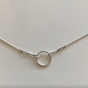 Dogeared Sterling Silver 925 Karma Circle Necklace